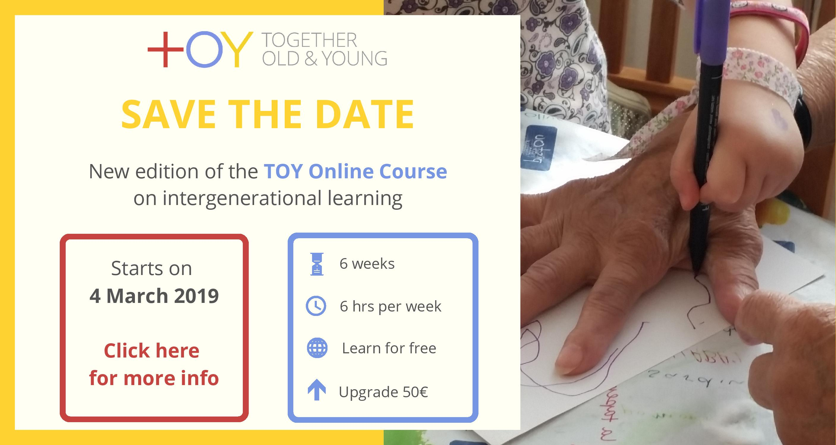 Save the Date TOY Online Course (4 March). Click to register