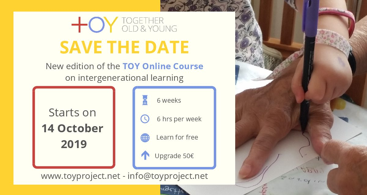 TOY online course on intergenerational learning for practitioners